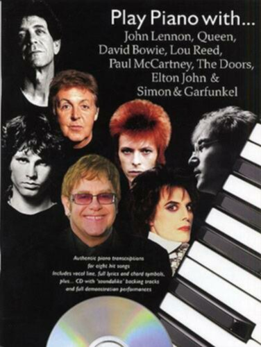 Wise Publications Play Piano With J. Lennon, Queen, D. Bowie, L. Reed, P. McCartney, The Doors, E. John, Simon And Garfunkel - Image principale