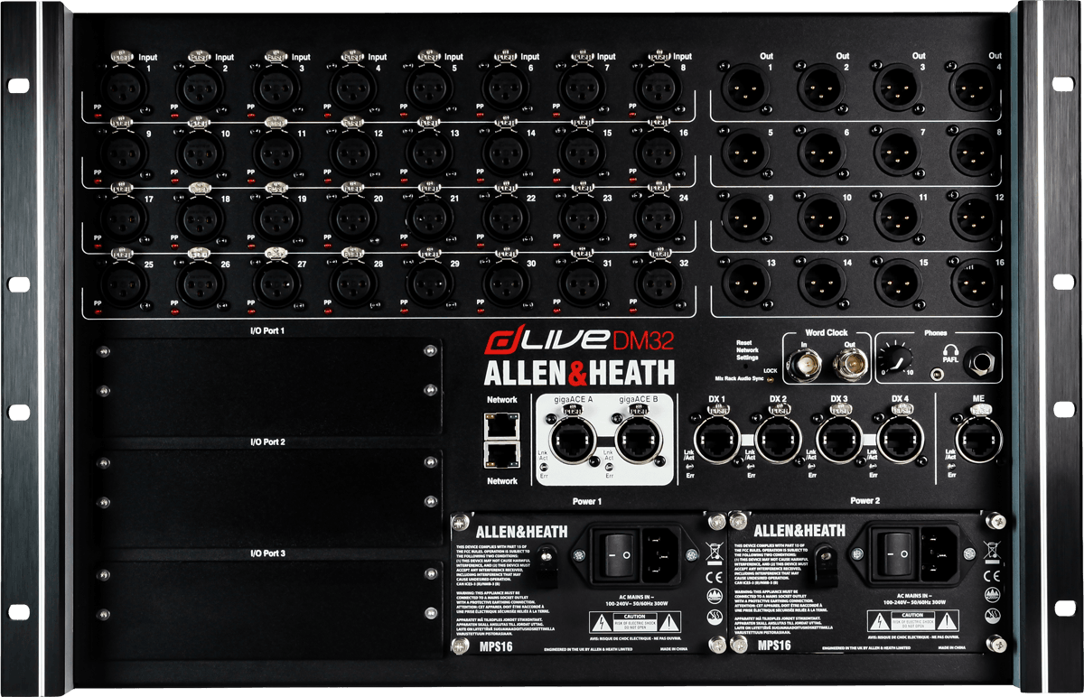 Allen heath dlive dm32 8499 00 guitare piano - Table de mixage professionnelle studio ...